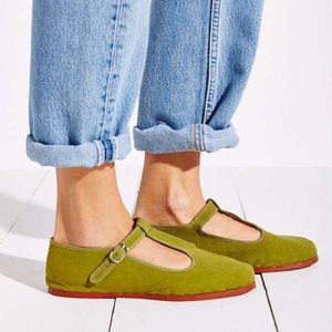 Urban Outfitters Canvas T-Strap Mary Janes 8/9